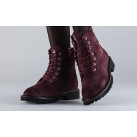 Замшевые женские ботинки