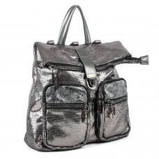 Рюкзак жіночий срібний блискучий  молодіжний  Oliaver