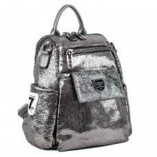 Рюкзак женский серебряный блестящий молодежный Oliaver
