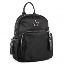 Рюкзак женский черный плащевка молодежный Oliaver