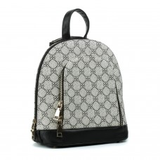 Рюкзак женский черный молодежный с оригинальным принтом