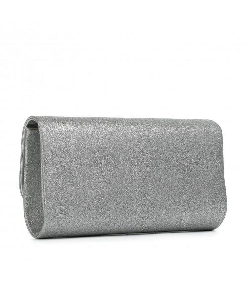 Клатч жіночий сріблястий блискучий