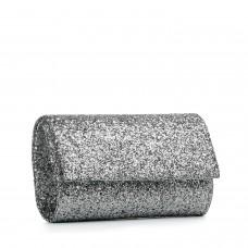 Клач жіночий срібний з блискітками
