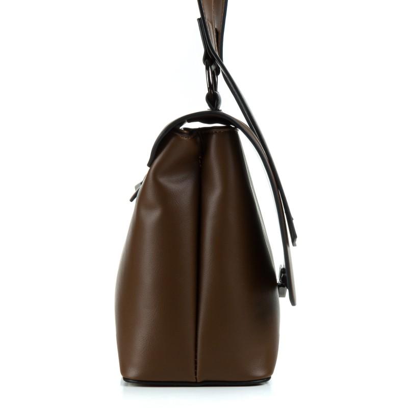 Сумка жіноча коричнева практична Oliaver
