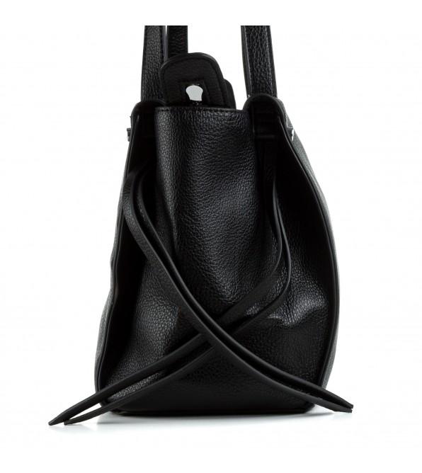 Сумка жіноча чорна вмістка стильна Oliaver