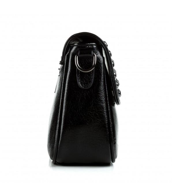 Сумка жіноча  чорна крос-боді Oliaver