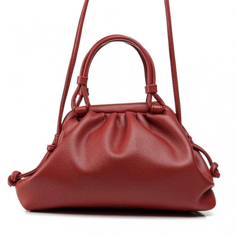 Жіноча сумка маленька теракотова стильна Oliaver