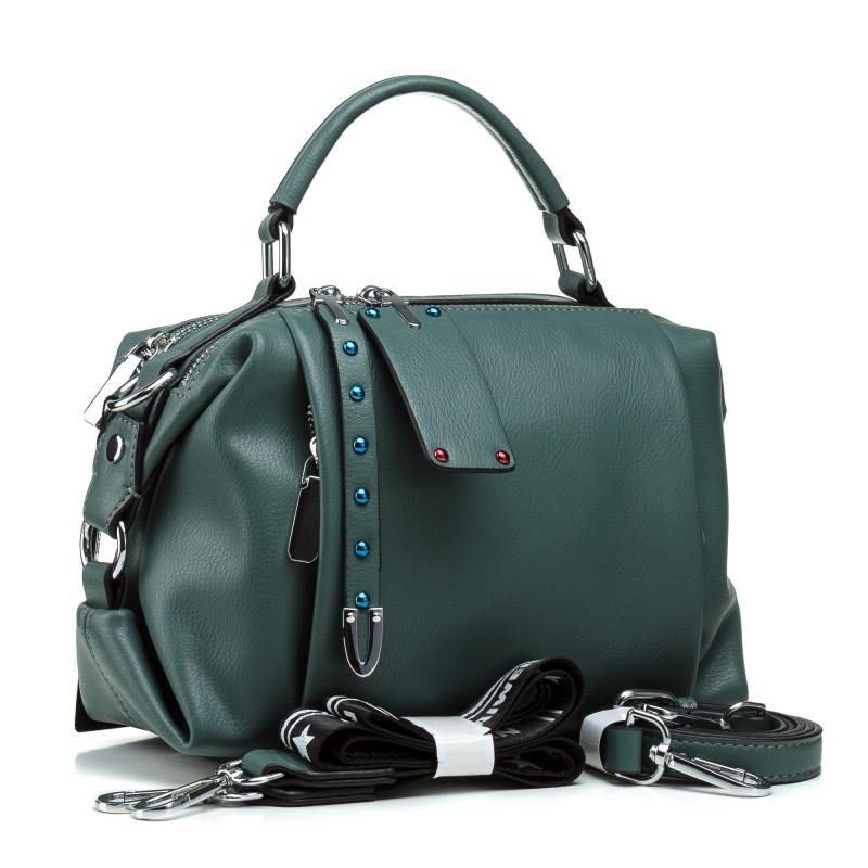 Сумка жіноча зелена маленька стильна Farfalla