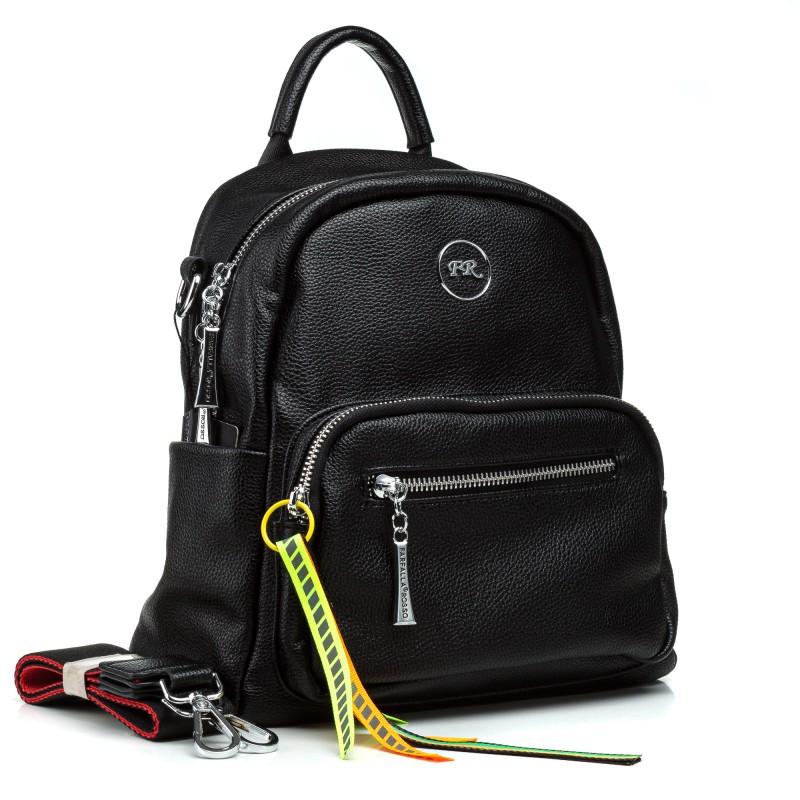 Рюкзак жіночий  трансформер чорний модний Farfalla