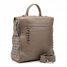 Рюкзак женский кожаный бежевый молодежный Polina