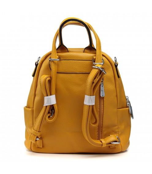Рюкзак жіночий  жовтий молодіжний Polina
