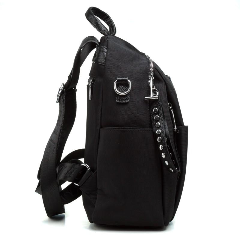 Рюкзак чорний  плащівка міський молодіжний Oliaver