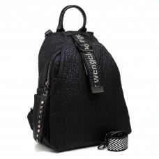Рюкзак черный матовый городской молодежный Oliaver