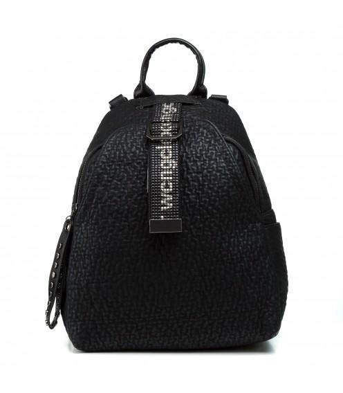 Рюкзак чорний  матовий міський молодіжний Oliaver