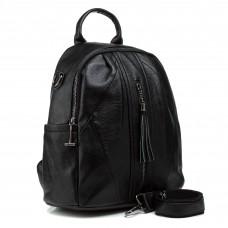 Рюкзак черный городской молодежный Oliaver