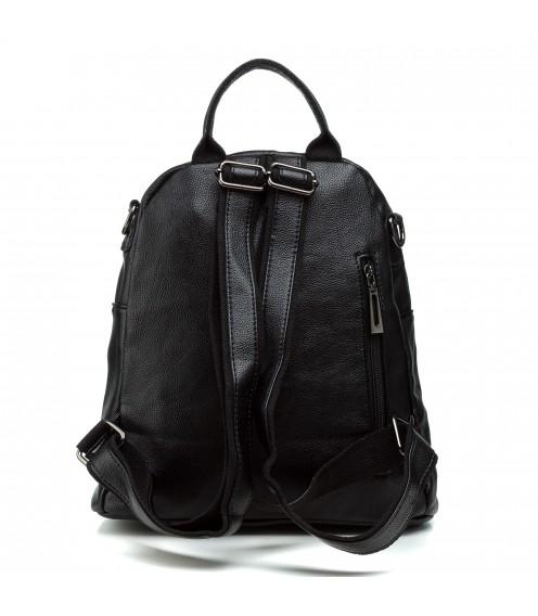 Рюкзак жіночий чорний міський стильний Oliaver