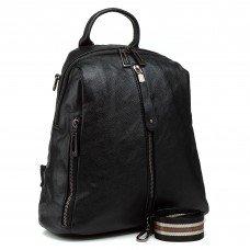 Рюкзак женский черный городской стильный Oliaver
