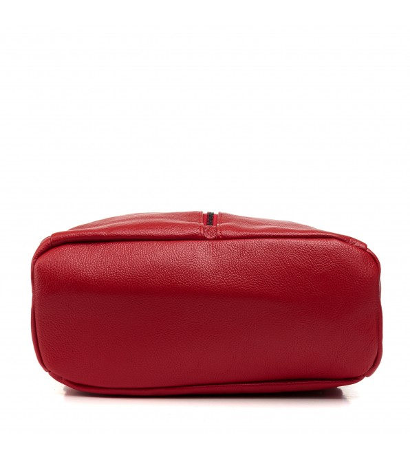 Рюкзак жіночий червоний міський стильний Oliaver