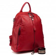 Рюкзак женский красный городской стильный Oliaver