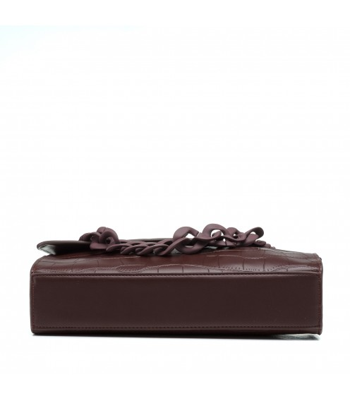 Сумка темно-коричнева з ланцюжком Oliaver