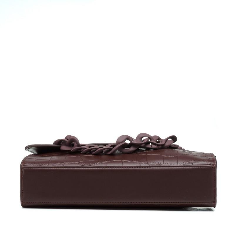 Сумка темно-коричневая с цепочкой Oliaver