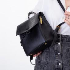 Рюкзак женский черный с цепочкой Oliaver