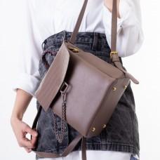 Рюкзак женский цвета мокко с цепочкой Oliaver