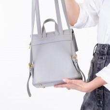 Рюкзак женский серый с емблемой Oliaver