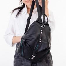 Рюкзак женский кожаный черный Polina