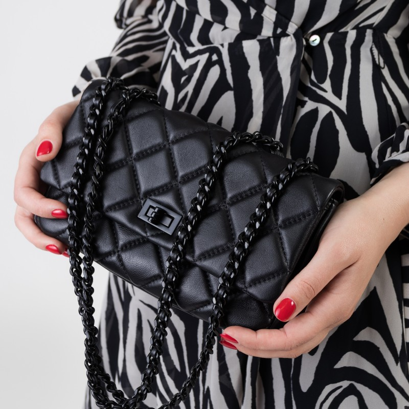 Сумка жіноча чорна компактна Polina