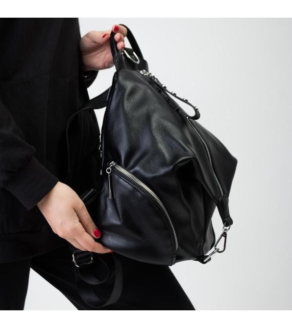 Рюкзак жіночий чорний Brocoli