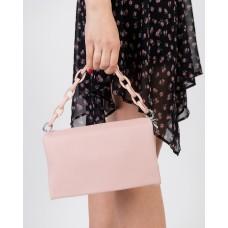 Сумка женская светло-розовая с цепочкой Brocoli