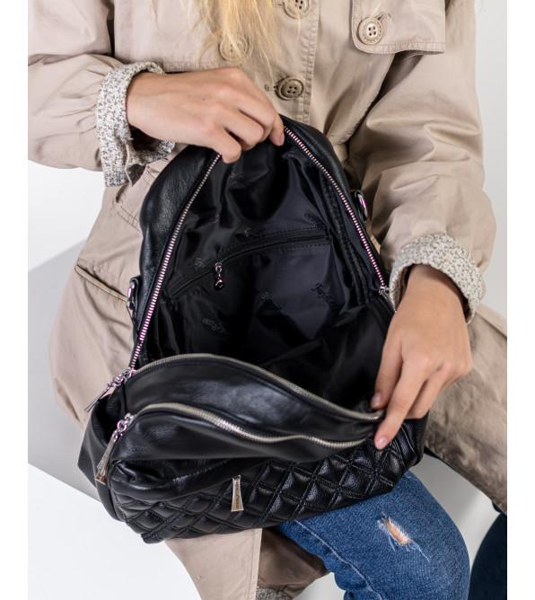 Рюкзак жіночий міський чорний Farfalla