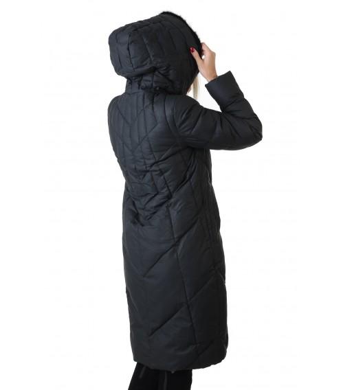 Пуховик жіночий чорний з норкою Vivi lona