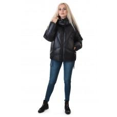 Куртка черная короткая с капюшоном TOWMY