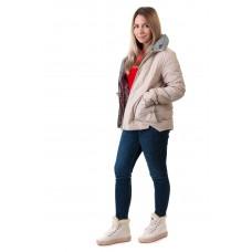 Куртка женская бежевая стильная Vivi lona