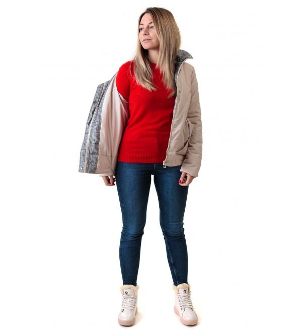 Куртка жiноча бежева стильна Vivi lona