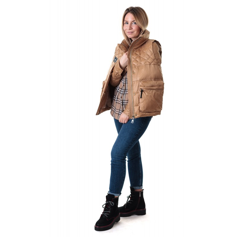 Куртка жiноча 2в1 коричнева стильна  ZLLY