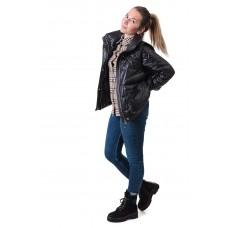 Куртка женская 2в1 черная стильная ZLLY