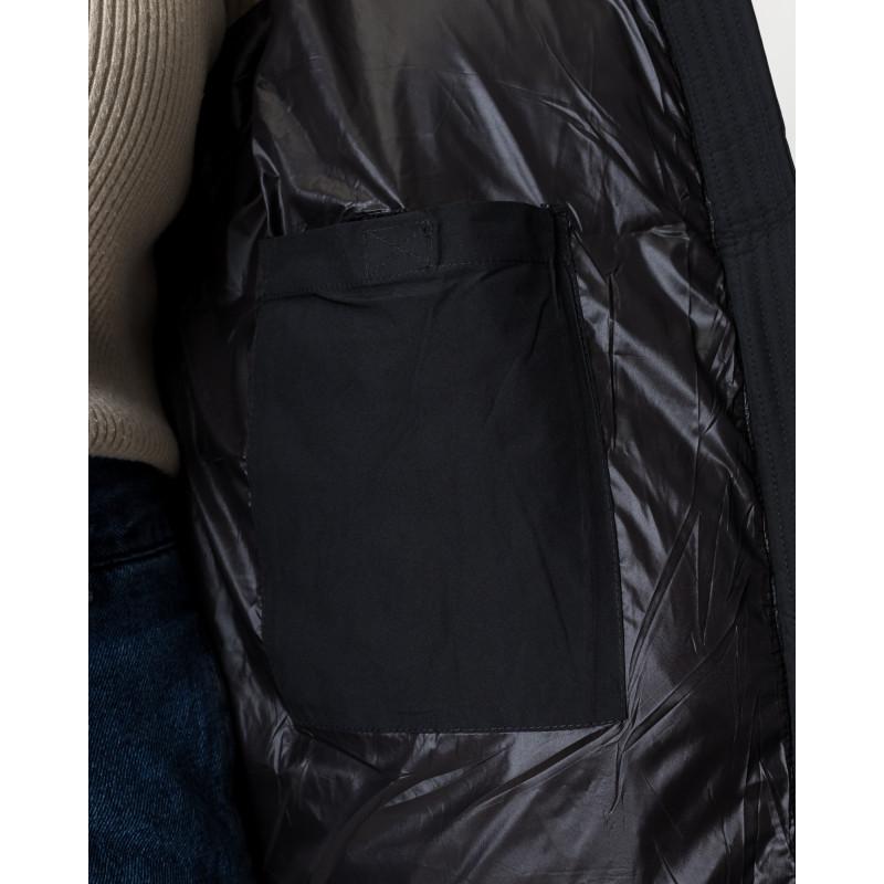 Пуховик жіночий чорний короткий TOWMY