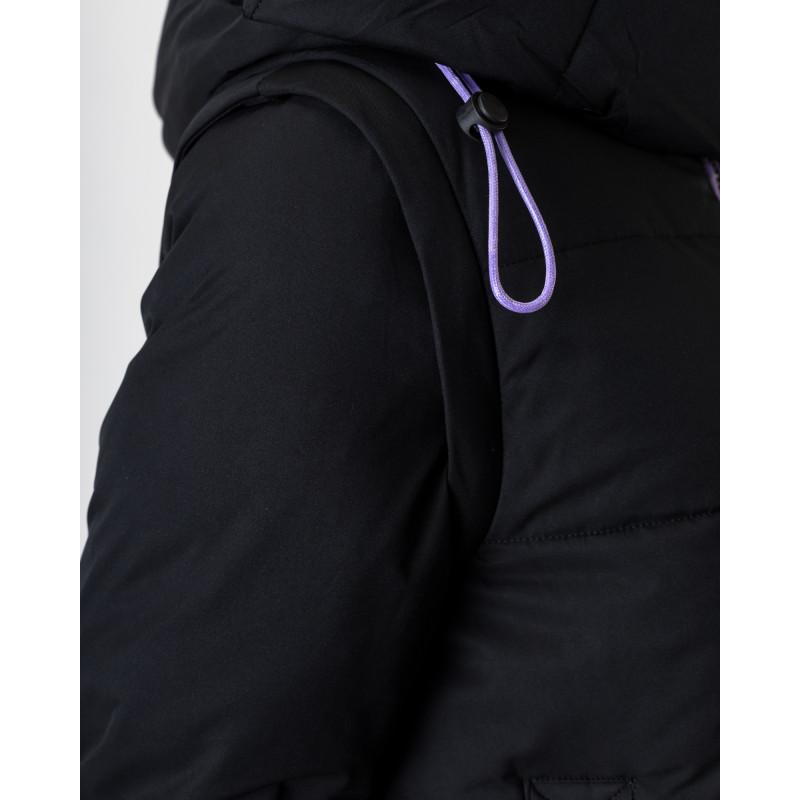 Пуховик-трансформер чорний з капюшоном TOWMY