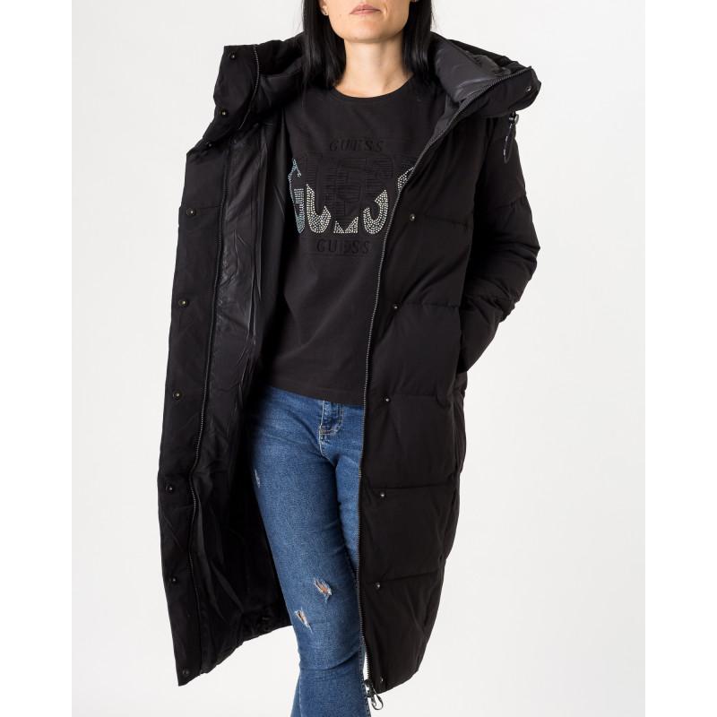 Пуховик жіночий чорний довгий зимовий TOWMY
