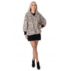 Кардиган-пальто жіноче леопардовий принт на довгий рукав стфйка короткий