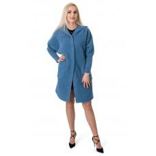 Кардиган женский голубой капюшон