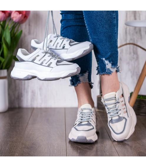 Кросівки жіночі бежеві на платформі V.I.Konty