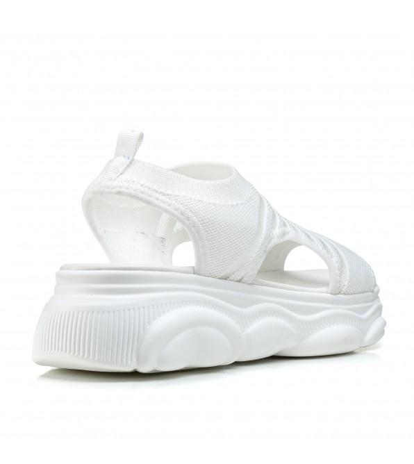 Босоніжки жіночі білі на платформі спортивні Vikonty