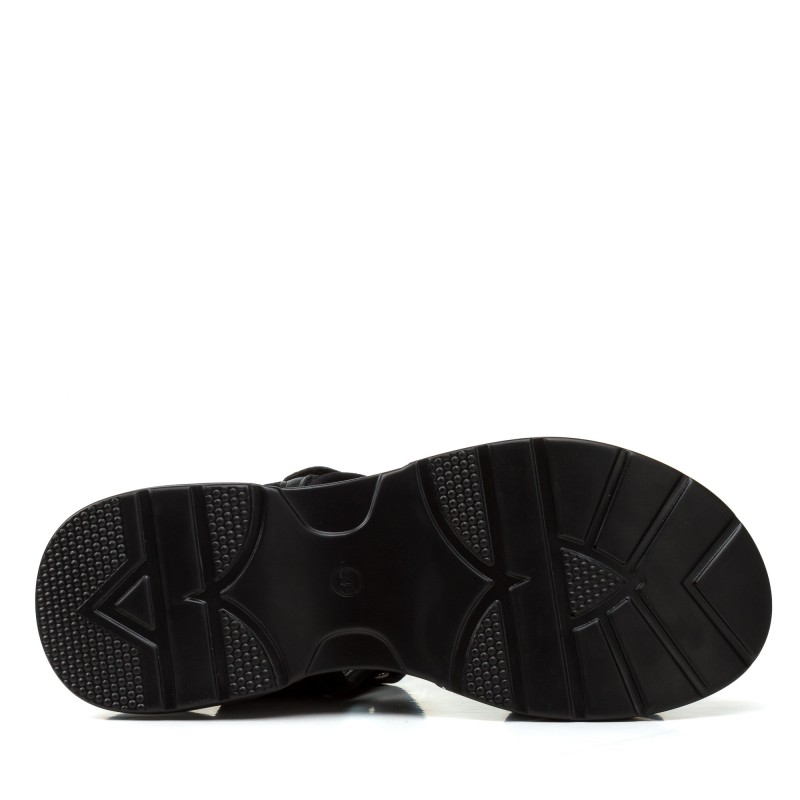 Босоніжки жіночі чорні на низькому ходу Gelsomino