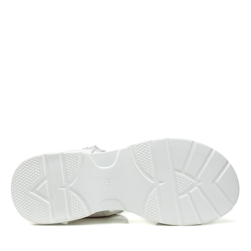 Босоніжки спортивні білі на платформі Gelsomino