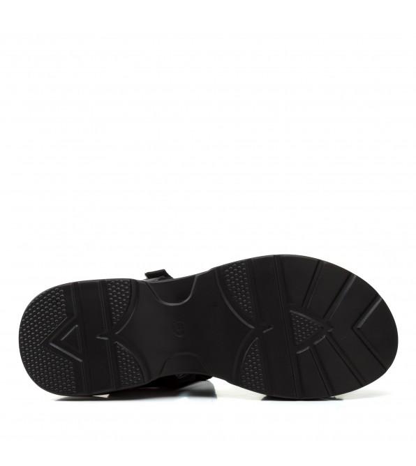 Босоніжки жіночі спортивні чорні на платформі Gelsomino