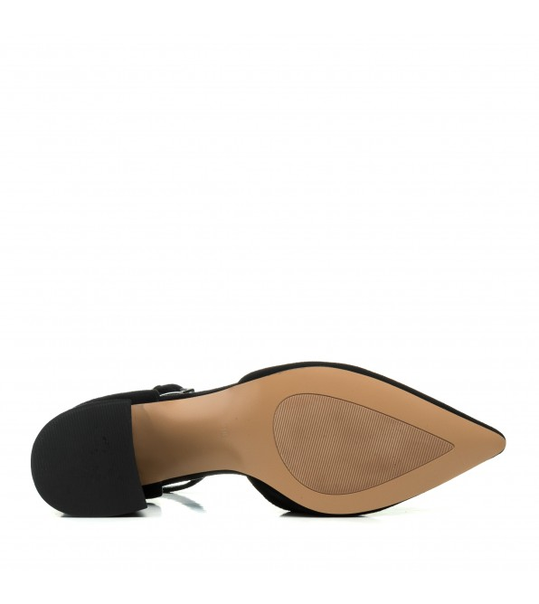 Босоніжки жіночі чорні замшеві з закритим носком Angelo Vera